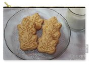 Maple Leaf Cookies And Milk - Food Art - Kitchen Carry-all Pouch