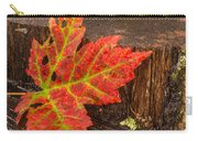 Maple Leaf On Oak Stump Carry-all Pouch
