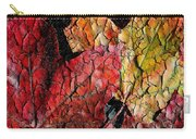 Maple Leaves Cracked Square Carry-all Pouch