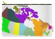Maple Leaves Map Of Canada Carry-all Pouch