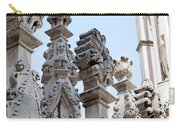 Marble Facade With Tower Duomo Di Milano Italia Carry-all Pouch