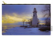 Marblehead Lighthouse Winter Sunrise Carry-all Pouch