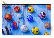 Marbles On Blue Board Carry-all Pouch