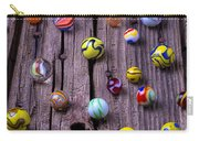 Marbles On Wood Carry-all Pouch