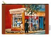 Marche Depanneur Storefront Paintings Authentic Montreal Art Prints Originals Commissions C Spandau Carry-all Pouch