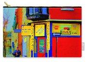 Marche Unique Cafe Sandwich Depanneur Rue St. Jacques St. Henri  Street Scenes Carole Spandau Carry-all Pouch