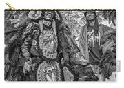 Mardi Gras Indian Monochrome Carry-all Pouch
