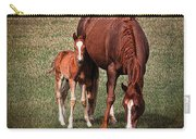 Mare With Foal Carry-all Pouch
