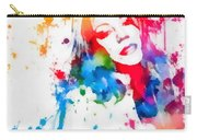 Mariah Carey Watercolor Paint Splatter Carry-all Pouch