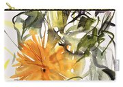 Marigold And Other Flowers Carry-all Pouch