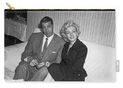 Marilyn Monroe And Joe Dimaggio Carry-all Pouch by Underwood Archives