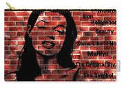 Marilyn Monroe On The Wall Carry-all Pouch