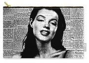 Marilyn Monroe On Vintage Newspaper Carry-all Pouch