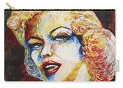 Marilyn Monroe Original Palette Knife Painting Carry-all Pouch