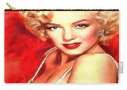 Marilyn Monroe Tribute In Red Carry-all Pouch