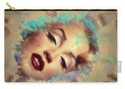 Marilyn Red Lips Digital Painting Carry-all Pouch