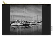 Marina Boats In Victoria British Columbia Black And White Carry-all Pouch