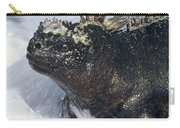 Marine Iguana In Surf Galapagos Islands Carry-all Pouch