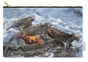 Marine Iguana Trio And Sally Lightfoot Carry-all Pouch