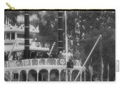 Mark Twain Riverboat Frontierland Disneyland Vertical Bw Carry-all Pouch