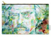 Mark Twain - Watercolor Portrait Carry-all Pouch by Fabrizio Cassetta