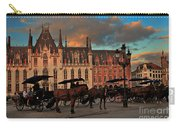 Markt Square At Dusk In Bruges Carry-all Pouch
