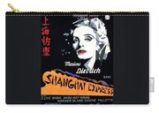 Marlene Dietrich Art Deco French Poster Shanghai Express 1932-2012 Carry-all Pouch