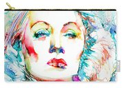Marlene Dietrich - Colored Pens Portrait Carry-all Pouch