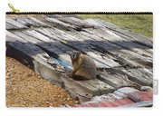 Marmot Resting On A Railroad Tie Carry-all Pouch