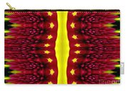 Maroon And Yellow Chrysanthemums 2 Polar Coordinates Effect Carry-all Pouch