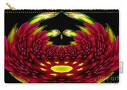 Maroon And Yellow Chrysanthemums Polar Coordinates Effect Carry-all Pouch