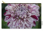Maroon Speckled Dahlia Carry-all Pouch