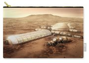 Mars Settlement With Farm Carry-all Pouch