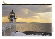 Marshall Point Lighthouse In Winter Maine  Carry-all Pouch
