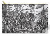 Martin Luther 1483 1546 Writing On The Church Door At Wittenberg In 1517 Carry-all Pouch