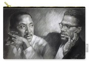 Martin Luther King Jr And Malcolm X Carry-all Pouch