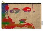 Martin Luther King Jr Watercolor Portrait On Worn Distressed Canvas Carry-all Pouch
