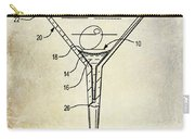 Martini Glass Patent Drawing Carry-all Pouch