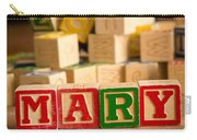 Mary - Alphabet Blocks Carry-all Pouch