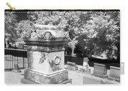 Mary And John Tyler Memorial Near Infrared Black And White Carry-all Pouch