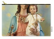 Mary Statue At Taybeh Village Carry-all Pouch