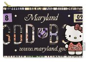 Maryland License Plate Carry-all Pouch