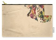 Maryland Map Vintage Watercolor Carry-all Pouch