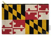 Maryland State Flag Carry-all Pouch by Pixel Chimp