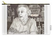 Mary In Marys Bar Cerrillos New Mexico Carry-all Pouch