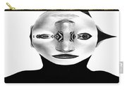 Mask Black And White Carry-all Pouch
