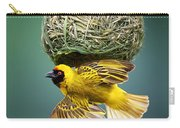 Masked Weaver At Nest Carry-all Pouch by Johan Swanepoel