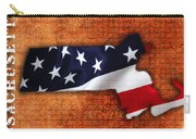 Massachusetts American Flag State Map Carry-all Pouch