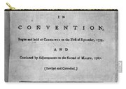 Massachusetts Constitution Carry-all Pouch