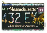 Massachusetts License Plate Carry-all Pouch